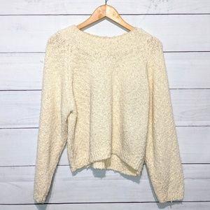 Vintage 90s Chaus Cream Knit Sweater